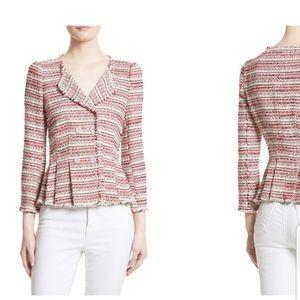 || REBECCA TAYLOR || Size 10 Knit Tweed Blazer
